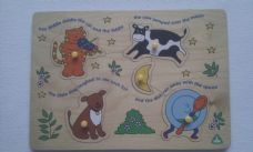 Adorable My 1st Early Learning Centre 'Nursery Rhyme' Peg Chunky Puzzle